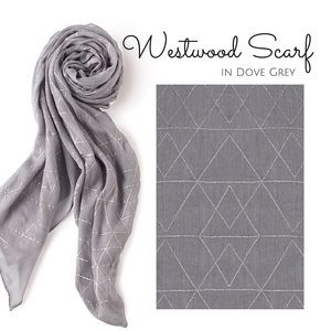 Stella & Dot Westwood Scarf in Dove Grey Metallic